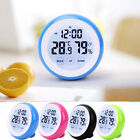 Touch Screen Digital LCD Temperature Humidity Meter Thermometer Alarm Clock
