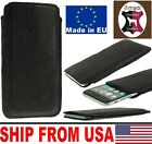 # SLIM CREASE LAMB REAL LEATHER POCKET CASE COVER SLEEVE POUCH - RANGE OF MODELS