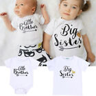 Little Brother Toddler Baby Rompe Girl Big Sister T-shirt Tops Matching Outfits
