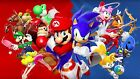 Mario cart and Zonic Gaming Poster Wall Art | A4 A3 A2 UK Seller | E170