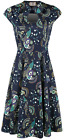 Dancing Days Proud Peacock Cut Out Dress Kleid navy