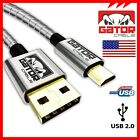 All Full Metal Micro USB 2.0 Sync Data Cable Fast Charger Samsung Android 6FT
