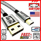 All Full Metal Micro USB 2.0 Cable Data Sync Fast Charger For Samsung Android LG