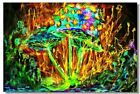 Poster Psychedelic Trippy Colorful Ttrippy Surreal Abstract Astral Art Print 8