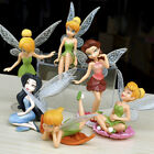 6x Fairy Miniature Figurine Garden Ornament Plant Pot Dollhouse Decor Mini Craft
