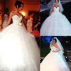 2018 Tulle Sweetheart Neckline Ball Gown Wedding Dresses With Beadings