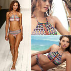 Women Brazilian Bikini Set Swimwear Halter Vest Tops Swimsuit Beach Bathing Suit