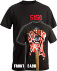 Eddie Van Halen 5150 Guitar Shirt - New, EVH, 1984 & 1986 Tours, Sizes up to 3XL