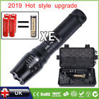 Police LED Flashlight Tactical 8000LM XML-T6 Zoomable Torch Lamp 5 Modes UK