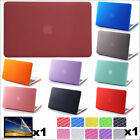 "3in1 Rubberized Matte Case (no cut) Protective Skin for MacBook White 13"" A1342"