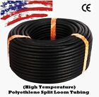 "Внешний вид - 1/8"" 1/4""  3/8"" 1/2"" 5/8"" 3/4"" 1"") 1 - 100 FT Split Wire Loom Conduit Tubing LOT"