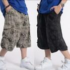 Men's Cargo Military Combat Shorts Pants Summer Sports Baggy Loose Size 34-42