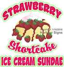 Strawberry Shortcake Ice Cream Sundae DECAL (CHOOSE YOUR SIZE) Food Concession