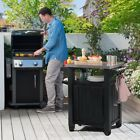 Keter Unity BBQ Entertainment Storage Table and Prep Station