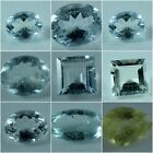 Natural Aquamarine Oval, Round, Square,  Faceted Cabochon Loose Gemstone