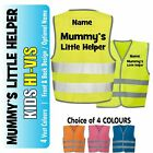 Mummy's Little Helper Kids,Childs Hi-Vis Safety Vest Jacket High Visibility Viz
