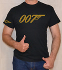 007,JAMES BOND,GOLD LOGO,FUN,T SHIRT $14.0 USD