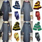 Harry Potter Hogwarts Adult Child Robe Cloak+Scarf+Tie Set School Fancy Costumes