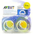 Baby Soother Dummy Nipple 0-6m / 6-18m Pacifier Philips Avent Night Time