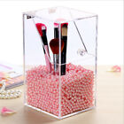 Acrylic Makeup Cosmetic Brushes Holder Organiser Storage Box includes Pearl