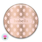 Personalised SHELL Rose Gold Foil POCKET MIRROR 58mm Wedding/Hen Favour/Gift