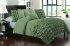 3 Piece Half Ruffled UK Double Size Duvet Cover 800 TC 100% Egyptian Cotton
