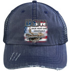 UNITED STATES NAVY CAP : CARRIER STYLE : 6990 Distressed Unstructured Trucker Ca
