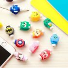2pcs Cartoon Design USB Data Charger Cable Cover Saver Protector For Cell Phone
