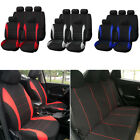 9pcs Universal Car Auto Front Rear Seat Covers Protectors Full Set Washable