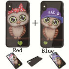Owl Luxury Couple Phone Case For iPhone 6S 7 8 Plus X PC Acrylic Painting Covers
