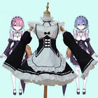 New Japanese Anime Rem Cosplay Costume Maid Outfit Role-playing Clothes Dresses