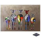 Colourful Abstract Zebra Poster Quality Print 260gsm Premium Poster Paper
