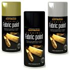 Rust-Oleum Fabric Spray Paint Leather Vinyl Flexible Gold / Silver / Black 150ml