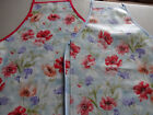 SPRING FLOWERS ADULT PVC WIPE CLEAN APRONS 2 SIZES OK TESTED EASY WIPE CLEAN