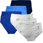 MENS 100% COTTON Y-FRONT CLASSIC BRIEFS PLAIN WHITE ASSORTED ALL COLOURS Lot