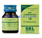 SBL Homeopathic Bio-Combination No.18 for Pyorrhoea (dental problem, pus in gums