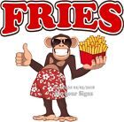 French Fries DECAL (Choose Your Size) Monkey Concession Food Truck Sticker