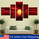 5 Panel Sunrise Landscape Canvas Print Painting Home Wall Art Decor No Framed US