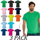 Mens tee Pack of 3-Russell TShirt Value Pack Tops-Gents Slim T-Shirt Value Pack