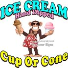 Hand Dipped Ice Cream DECAL (Choose Your Size) Monkey Concession Food Sticker