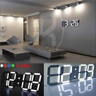 Modern Design Digital Led Desk Wall Clock Large Watches 24 or 12-Hour Display
