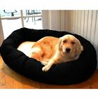 Majestic Pet Cotton Bagel Bed with Sherpa