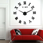 Large Oversized DIY 3D Art Deco Wall Clock Kit Retro Office Decoration Kitchen