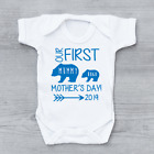 Our First Mothers Day 2018 Personalised Mother's Day Baby Vest Bear Boys Grow