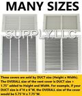 vent air - AIR RETURN Vent Cover Grille AC Duct Wall Ceiling Sidewall Steel White HVAC
