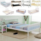 SOLID WOODEN BED FRAMES SINGLE DOUBLE KING TRIPLE BUNK SLEIGH BEDS 3FT/4FT 6/5FT