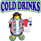 Cold Drinks DECAL (Choose Your Size) Food Truck Concession Vinyl Sticker