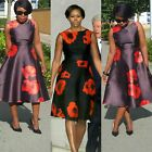 Towani Michelle Poppy Floral Flare Midi Dress Ready to Ship. Sizes 12 to 18UK