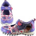 GIRLS OFFICIAL DISNEY DOC MCSTUFFINS GLITTERY CASUAL SHOES TRAINERS UK SIZE 5-10