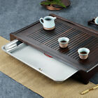 tea tray ebony wood tea table solid wood serving tray stainless steel drawer new